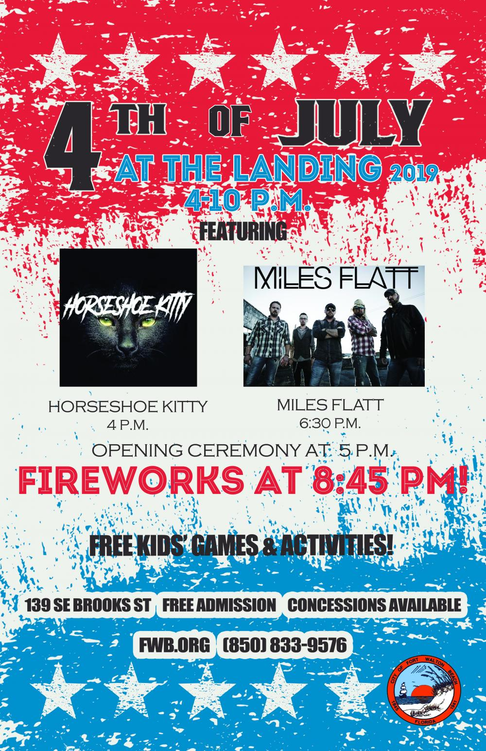 City of Fort Walton Beach July 4th Celebration at the Landing | Fort